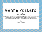 Genre Posters - Blue and Gray Quatrefoil