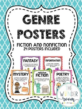 Genre Posters - Book Genres - Fiction and Nonfiction Genre Posters