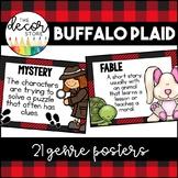 Genre Posters: Buffalo Plaid   Classroom Decor