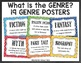 Genre Posters - Chalkboard with Colorful Background - 2 Styles