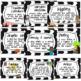 Genre Posters- Black and White Chevron