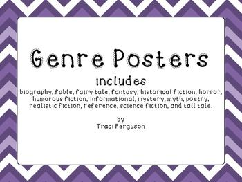 Genre Posters - Chevron Design (Purple)