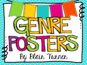 Genre Posters - Colorful Chevron Theme