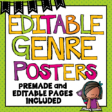 Reading Genre Posters Editable