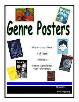 Genre Posters - Green & Blue
