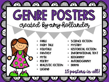 Genre Posters- Literature and Informational Text
