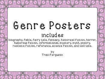 Genre Posters - Pink and Gray Damask
