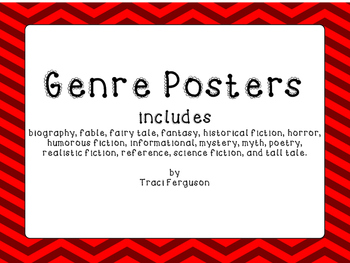 Genre Posters - Red Chevron