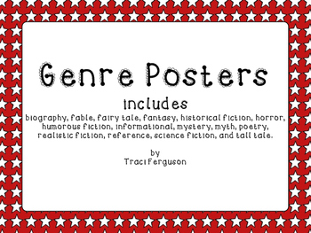 Genre Posters - Red with White Stars