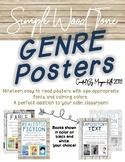 Genre Posters Simple Wood Tone