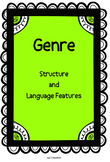 Genre Posters: Structure and Language Features