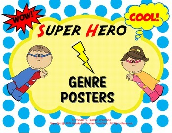 Genre Posters Super Hero Theme