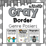 Genre Posters- Gray Border and Editable