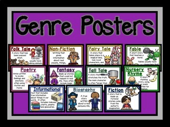 Genre Posters-The Modern Classroom