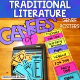 Genre Posters   Traditional Literature Bulletin Board