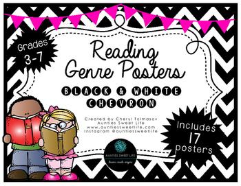 Genre Posters, Upper Grades, Chevron, Brights