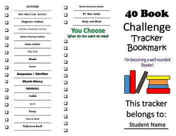 Genre Posters and 40-Book Challenge Bookmark