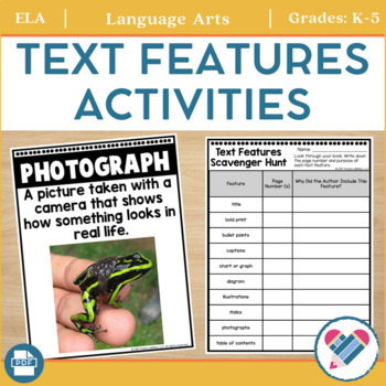 Text Features Posters and Activity Pages