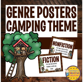 Genre Posters and Record Sheets- Camping Theme