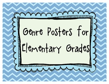 Genre Posters for Elementary Readers