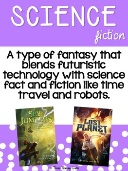 Genre Posters for Upper Elementary - Option 1