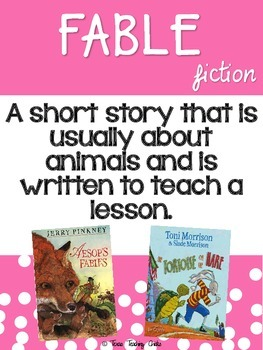 Genre Posters for Upper Elementary - Option 2