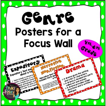 Genre Posters for a Focus Wall