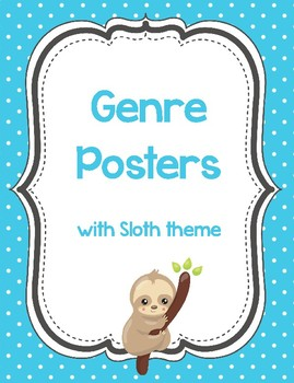 Genre Posters with Cute Sloth Theme
