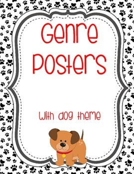 Genre Posters with Dog Paw Print Theme
