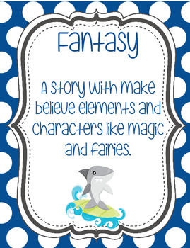 Genre Posters with Seaside or Silly Shark Theme
