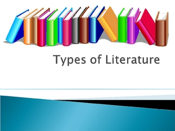 Genre PowerPoint/ Types of Literature for presentation or booklet