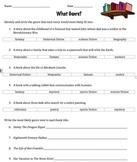Genre Practice Worksheet