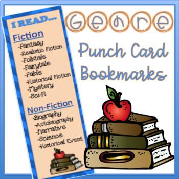 Genre Punch Card Bookmarks