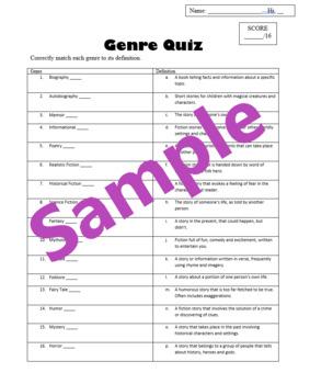 Genre Quiz