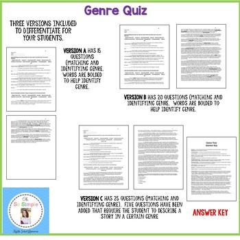 Genre Quizzes