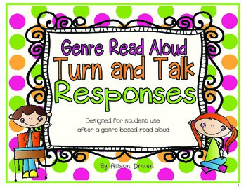 Genre Read Aloud Turn and Talk Responses