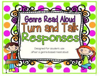Genre Read Aloud Turn and Talk Responses