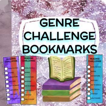 Genre Reading Challenge Bookmark FREEBIE