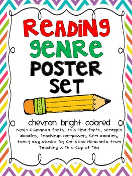 Genre Reading Posters Chevron Edition
