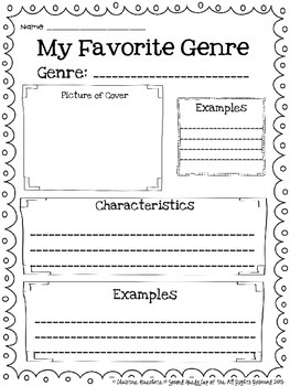 Genre Reading Posters: Scribble Set