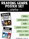 Genre Reading Posters Shiplap Edition