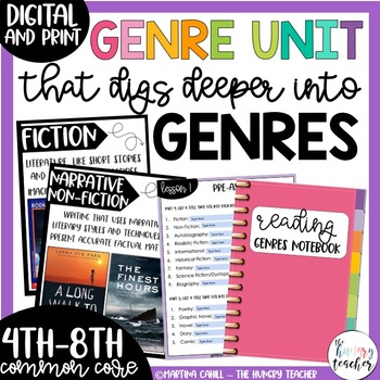 Genre Unit for Upper Elementary & Middle School {Genre Pos
