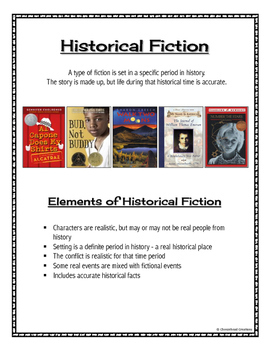 Fiction & Non-Fiction Genre Pages with Picture Examples for Student Reference