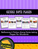 Fiction & Non-Fiction Genre Pages with Picture Examples fo