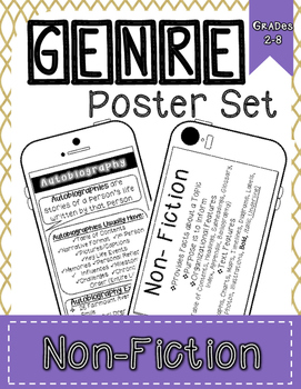 Genre Reference Poster Set: Non-Fiction Texts