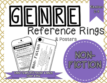 Genre Reference Rings & Poster Set: Non-Fiction Texts (12 Types)