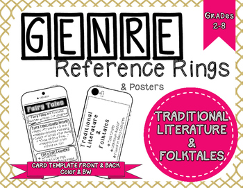 Genre Reference Rings & Poster Set: Traditional Literature & Folktales