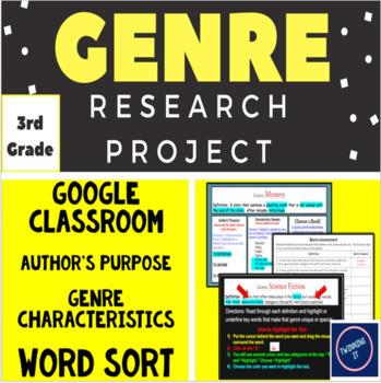 Genre Research Project + Word Sort (Grade 3)