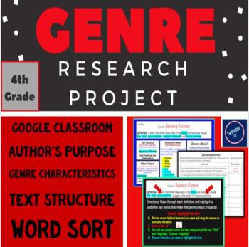 Genre Research Project + Word Sort (Grade 4)