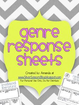 Genre Response Sheets / Genre Record Sheets